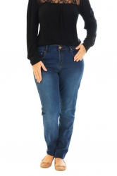Essential Straight Leg Mid Rise Jeans - Mid Blue