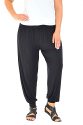 Full Length Harem Pants - Black