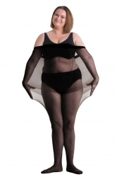 Plus Size Genuine Tall Fit 20 Denier Pantyhose -Black