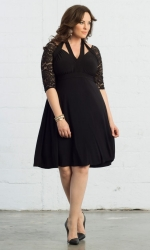 Luring Lace Dress - Black Noir