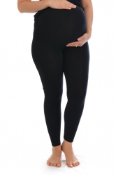 Essential Versatile Plus Size Maternity Leggings-Blk