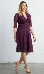Mademoiselle Lace Dress - Berry Bliss