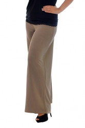 Lovely Light Crepe Palazzo Pants - Mocha