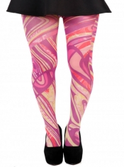 Marble Swirl Printed Tights