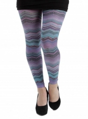 Mexican Waves Printed Footless Tights