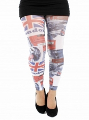 London Life Printed Footless Tights