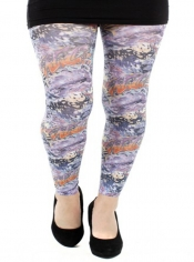 Artist Printed Footless Tights Multi