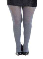 Denim Twill Grey Printed Tights