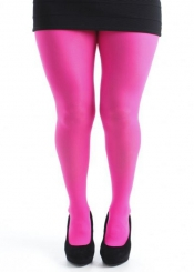 50 Denier Opaque Tights - Flo Pink