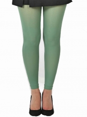 50 Denier Footless Tights - Leaf Green