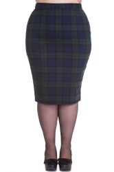 Jodie Pencil Skirt - Dublin Tartan