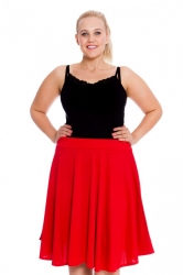 Pretty Pleated A-Line Skirt - Red
