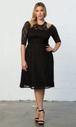 Audrey Lace Dress - Black Noir