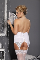 Stunning & Sexy Latex Lace Garter Belt – Bridal White