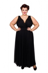Nancy Marilyn Chiffon Maxi Dress - Black