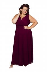 Nancy Marilyn Chiffon Maxi Dress - Burgundy