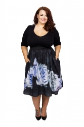 Kelly Rose Bolero 2 in 1 Dress - Black and Blue