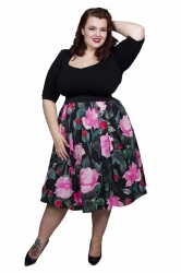 Sweetheart Garden 2-in-1 Dress - Black, Green and Pink