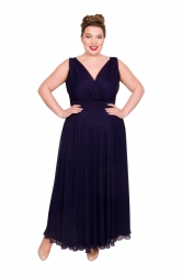 Nancy Marilyn Chiffon Maxi Dress - Blueberry ------SOLD OUT------