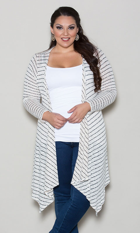 PRE ORDER: Alexia Knit Cardigan - Striped