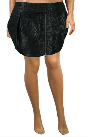 21a8a2c9ee2e8 ... Funky Snakeskin Look Plus Size Mini Tulip Skirt - Hot! 2 (click to  Enlarge