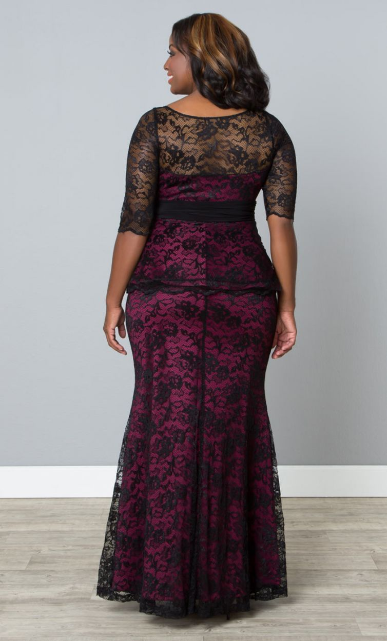Plus Size Black Lace Maxi Dresses In Modern Styles